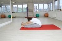 Yoga seated forward bend pose - paschimottanasana