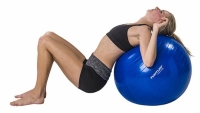 Exercises against pain in the lower back and sacrum with exercising tool