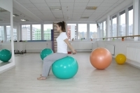 Opening the rib cage - exercise on the gym ball