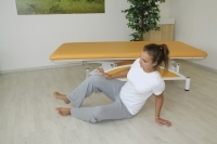 "Brunkow - Plank from a sitting position, into a position of ""high"" tilted sitting position"